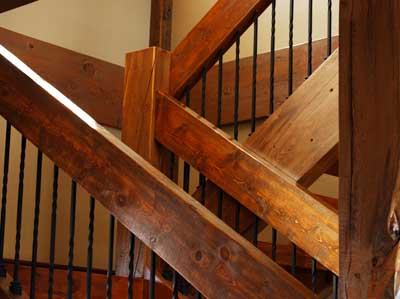 Custom designed staircase